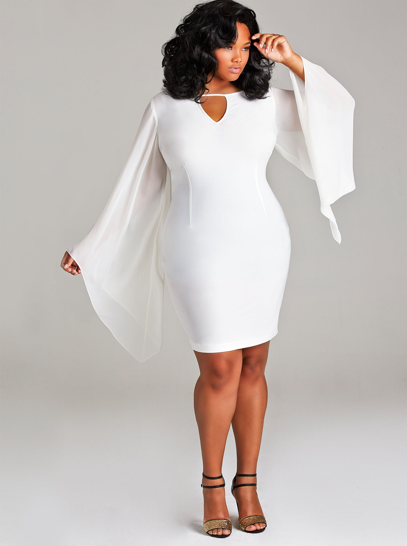 Evening in White Plus Size Cocktail Dresses